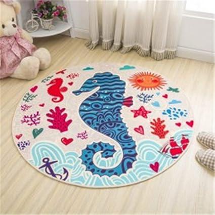 Simple Style Round Carpet Kids Rug for Bedroom Bedside Rug Tapeta Baby Crawling