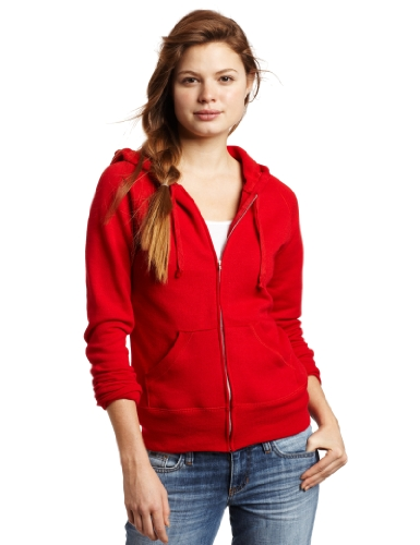 Soffe Juniors Rugby Fleece Zip Hoodie, Red, Medium -