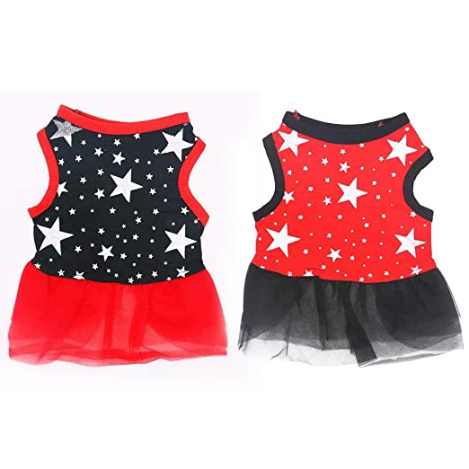 KinshopS - Vestido de Verano con Estampado de Estrellas, Falda de ...