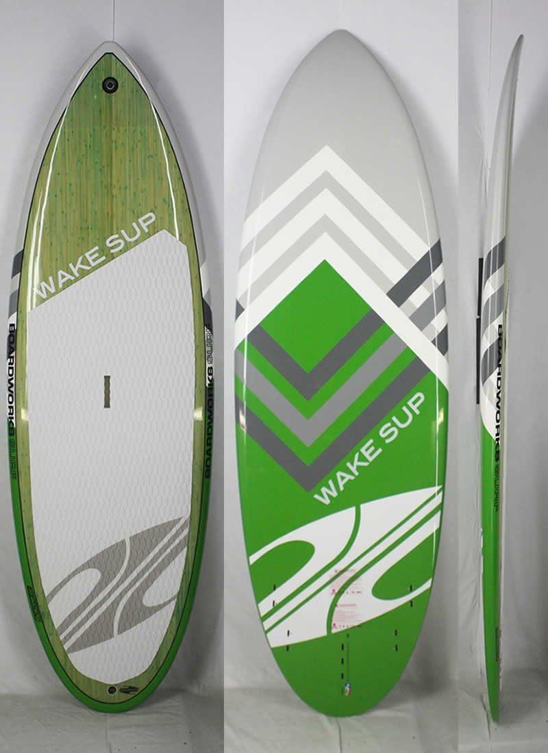 BOARDWORKS (ボードワークス)WAKE SUPモデル スタンドアップパドルボード [緑] 7'6  WAVE SUP フィン付き (og2555)