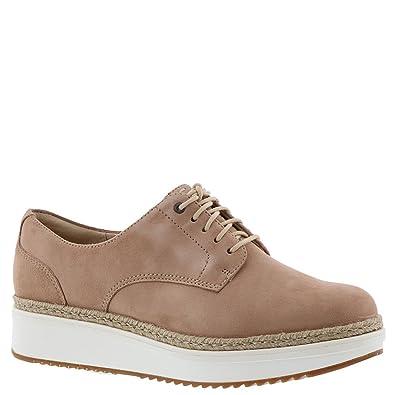 29e09b9fe20 Amazon.com | CLARKS Women's Teadale Rhea Beige Suede 8.5 B US | Shoes