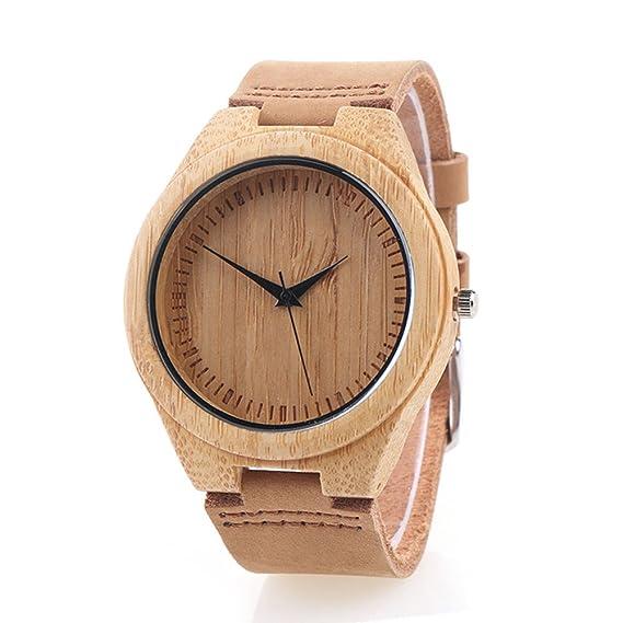 109794dd44e6 Reloj de Madera de Bambú para Mujer