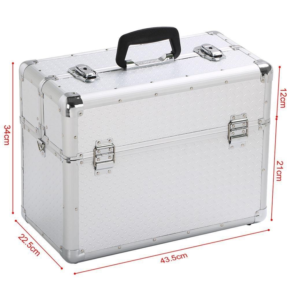 Yaheetech Alu Werkzeugkoffer Alu Koffer leer Transportkoffer Werkzeugaufbewahrung Werkzeugk/ästen Multikoffer 43,5 x 22,5 x 34 cm