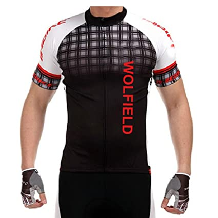f86b0cc90 Image Unavailable. Image not available for. Color  WOLFBIKE Men s Cycling  Bicycle Bike Wear Outdoor Short Sleeve Jersey Breathable ...