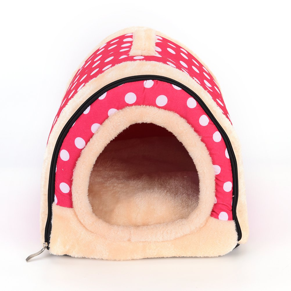 1 Pc Foldable Animal Sleep Bed Kennel Mat Pad Cushion Hanging Cozy Pet House Cage Hammock Cave Hut Winter Warm Nest Tent for Dog Cat Parrot Chinchilla Hamster Guinea Pig Rabbit Squirrel Hedgehog Rat by WWahuayuan (Image #5)