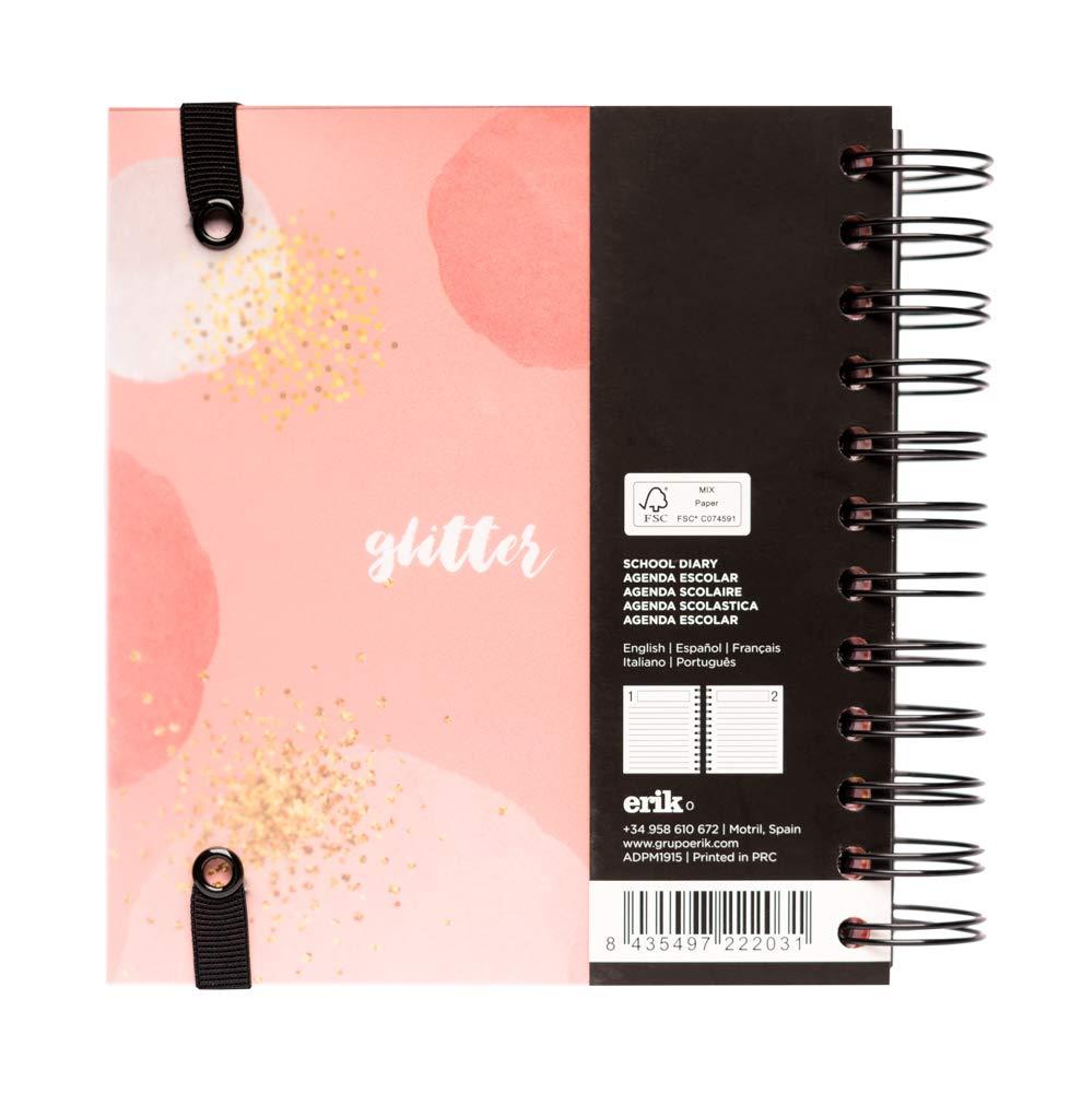 Agenda escolar 2019/2020 día página M Glitter