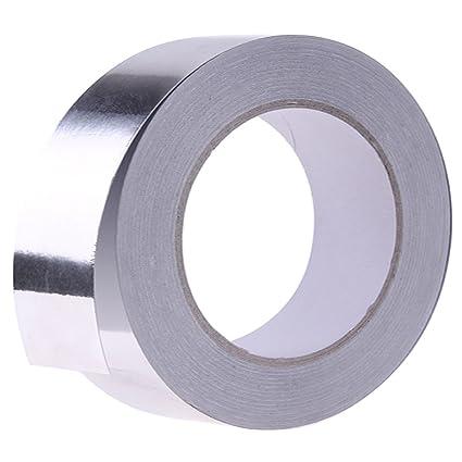 Cinta Adhesiva De Papel De Aluminio Plateado Para ReparacióN De HVAC, Conductos, Aislamiento,