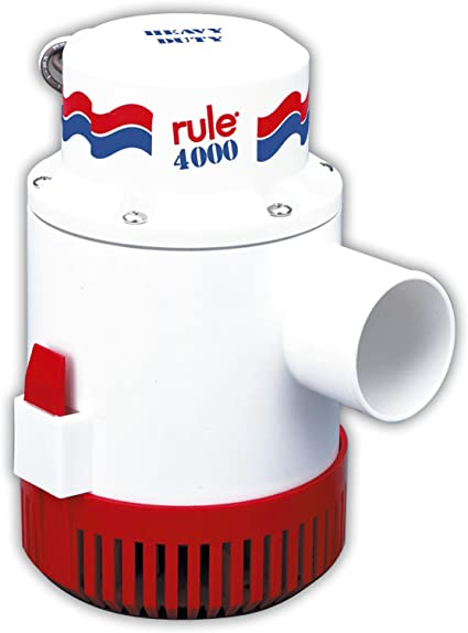 Rule 3700 G.P.H GPH Gold Series Boat Marine Bilge Pump Non Auto 1-1//2 Outlet