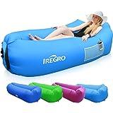 IREGRO Hamac Gonflable canapé avec oreiller intégré et sac de rangement, canap gonflable, sofa gonflable