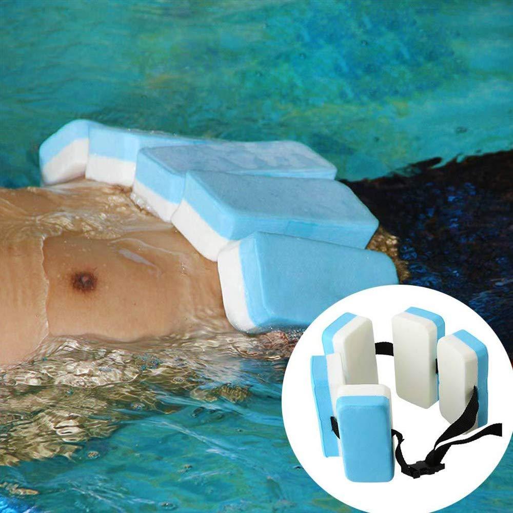 Popluxy Ceinture de Natation r/églable en Mousse EVA Piscine Aquatique Aqua Water /Équipement de Ceinture dentra/înement Flottant pour Adultes Enfants d/ébutants en Natation