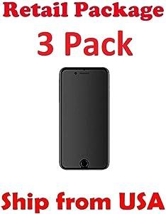 iPhone 8, 7 Plus Matte Glass Screen Protector, eTECH [3 Pack] Tempered Glass Screen Protector for Apple iPhone 8 Plus, iPhone 7 Plus [5.5