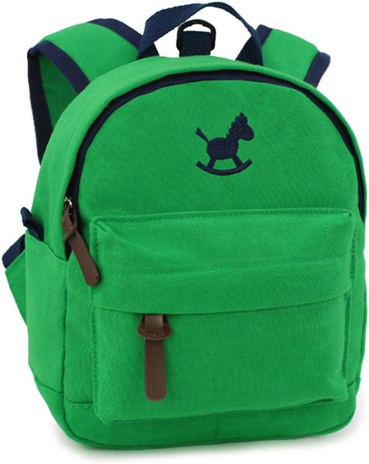 Kofun Toddler Backpack Anti-Lost Band Kids Children Cartoon Kindergarten School Bag Green
