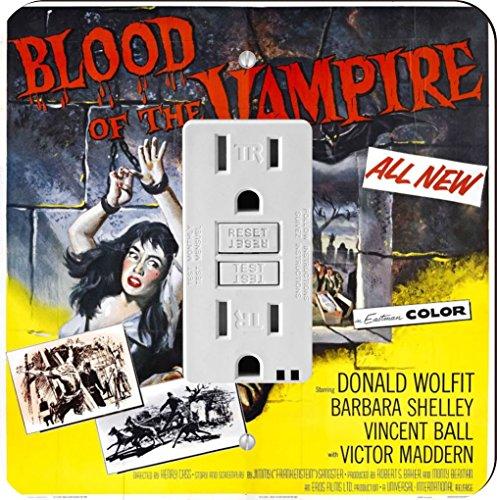 Rikki Knight 3704 Vintage Movie Posters Art Blood of Vampire 4 Design Light Switch Plate by Rikki Knight