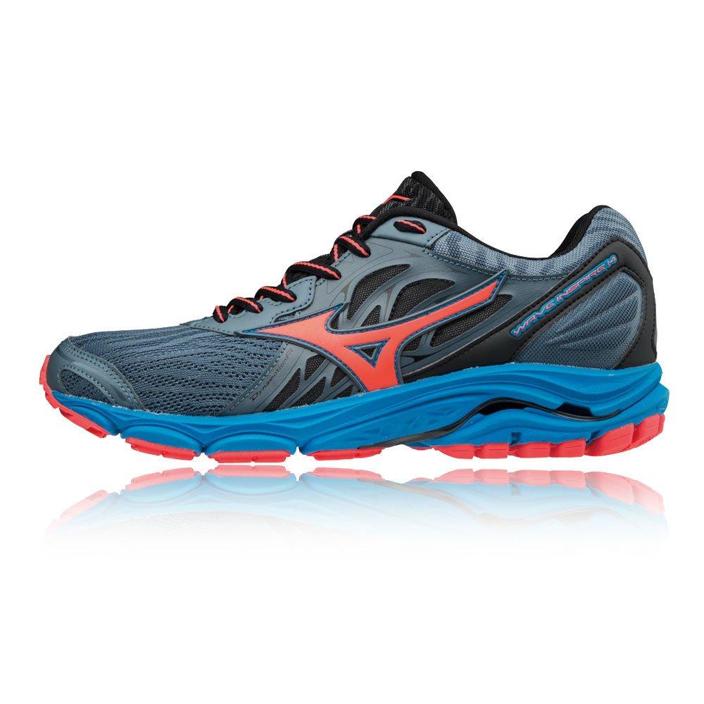 Mizuno Wave Inspire 14, Zapatillas de Running para Mujer 41 EU|Azul (Blue Mirage/Fierycoral/Divablue 55)