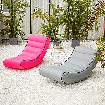 Amazon.com: LOCYOP Tumbona hinchable con bolsa de transporte ...