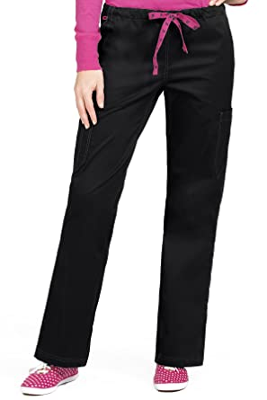 c881515a5af Med Couture Signature Women's 2 Cargo Pocket Scrub Pant, Black, X-Small Tall