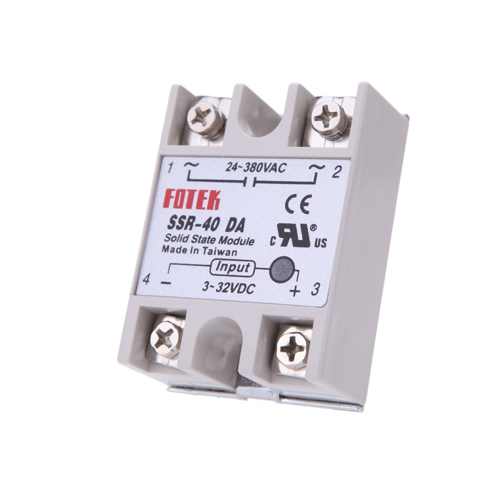 40a Ssr 40 Da Solid State Relay Module For Pid Temperature Medium Power Single Phase Acsolid Controller 3 32v Dc To Ac Accessories 24v 380v Electrical Switches Industrial