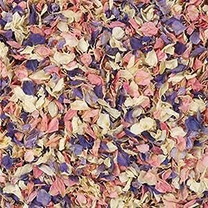 1 Litre Naturally Dried Mixed Delphinium Petal Wedding Confetti by Kellys Weddding World