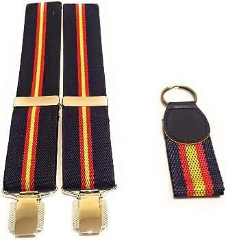 Tirantes elásticos caballero Azul Bandera España y regalo de ...