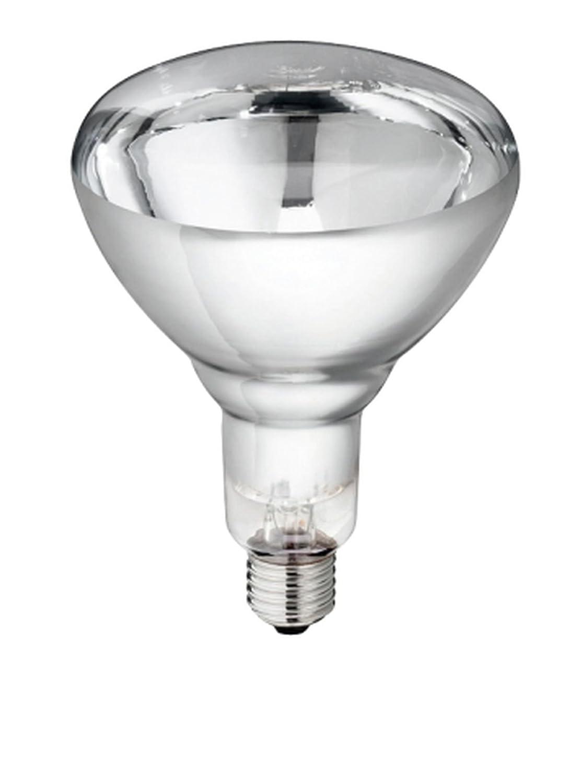 5 Stü ck Hartglas Infrarotbirne Philips 150 Watt klar E 27 Glü hbirne Leuchtmittel fü r Rotlicht Wä rmelampe Wä rmestrahler Infrarotlampe Infrarotstrahler Cajou
