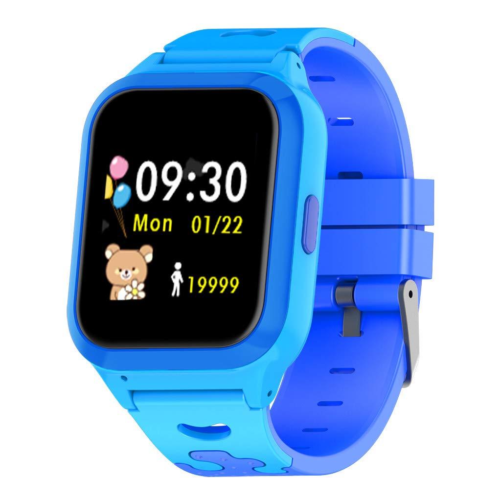 JinJin Kids GPS Smartwatch1.44 inch Anti-lost Smart Watch for Children Girls Boys Search Children (Blue) by Jinjin (Image #1)