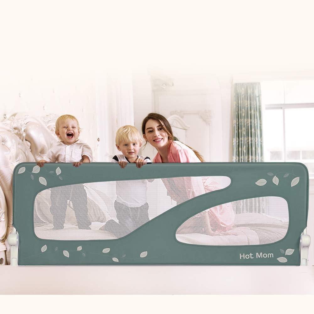 barrera de seguridad,color rosa 2020 new Hot Mom barandillas de la cama 150 cm para beb/és port/átil y estable