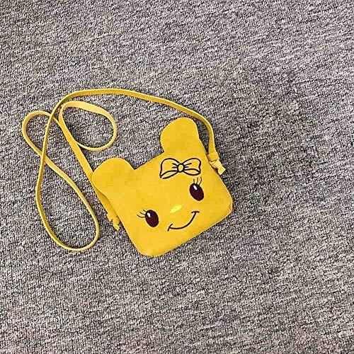 Mujer Familizo De Dibujos Niños Animados Mochila Gato Sólido Amarillo Color Bandolera Bolsos Moda Bolsa Mensajero Mano wtra5t