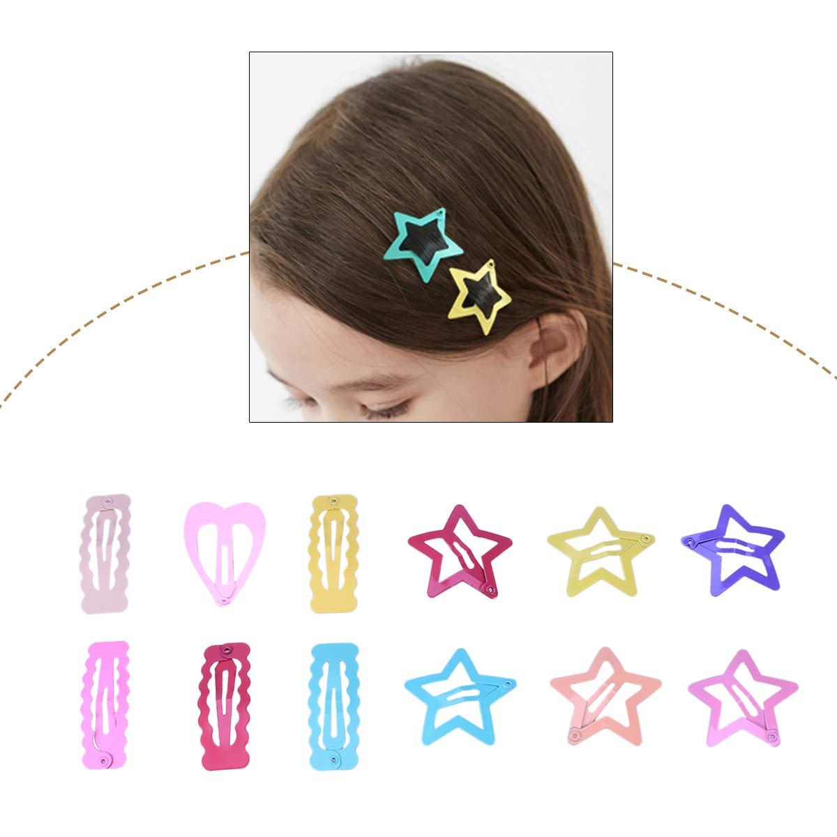 Frcolor Baby Snap Hair Clips No Slip Pins Metal Capelli Clip Accessori per Bambini Ragazze Ragazzi 72PCS