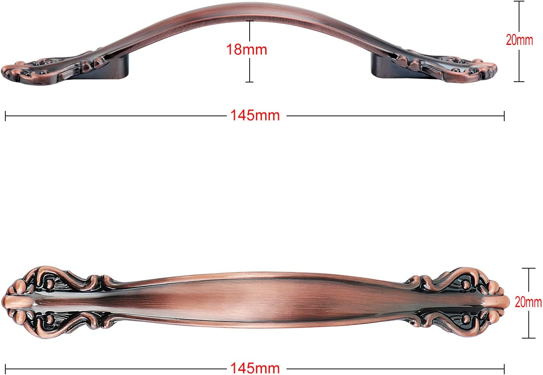 64mm-10-Pack Tiradores de Puerta de Armario Vintage TsunNee Tiradores de Arco Antiguos manijas de Puerta de Muebles Bronce Verde