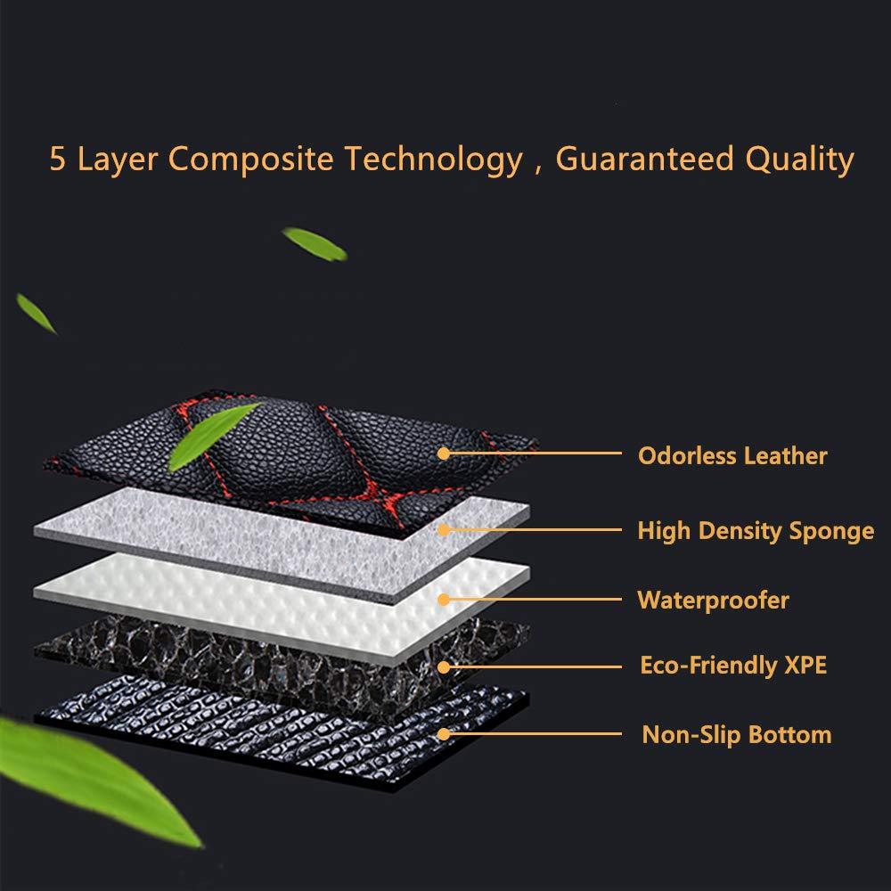 Leesville Artificial Leather Floor Mats for Lexus ES,2018 2019 XZ10 Lexus ES Floor Mats,Lexus Leather Floor Mats,Full Surrounded Waterproof Floor Mats Lexus ES Leather Mats