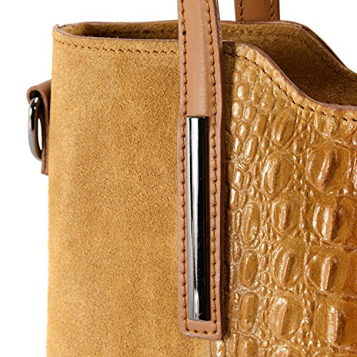 cuir BAG croco Assop Camel effet Nubuck Main OH à Modèle MY Sac et xHTwCXq