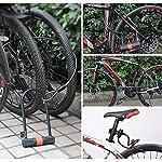 SANVU-Lucchetto-a-U-per-Bici-U-Blocco-Bicicletta-D16W150H300mm-Antifurto-12m-di-Cavo-in-Acciaio-Flessibile-Intrecciato-80cm-Serratura-Portatile-Combinazione-for-Moto-Scooter-ECC
