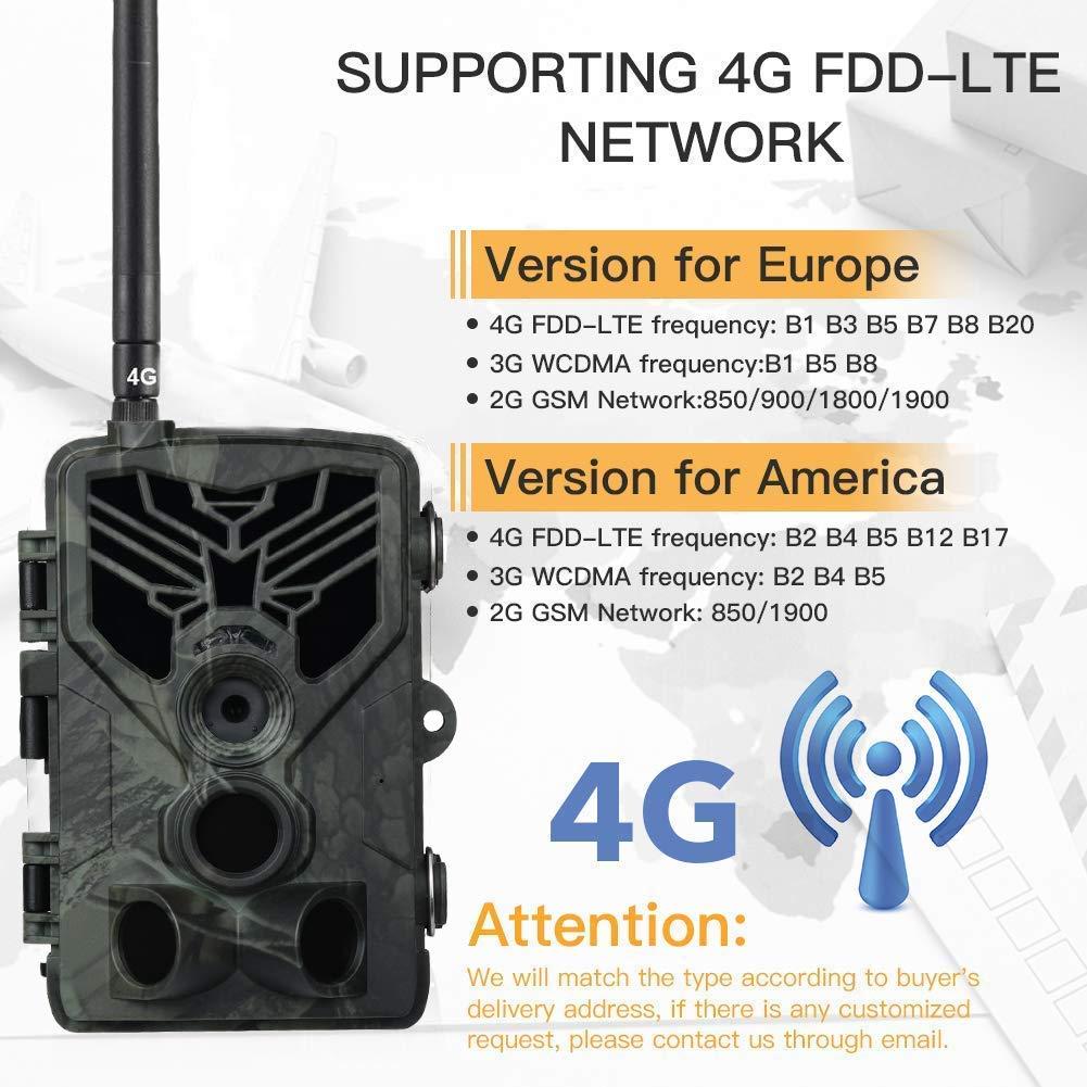 SUNTEKCAM 4G C/ámara de Caza Nocturna 20MP 1080P con Dise/ño Impermeable IP65 C/ámara de Fototrampeo con Detecci/ón de Acci/ón LED IR con 16 g de SD C/ámara de vigil/ància de la Vida