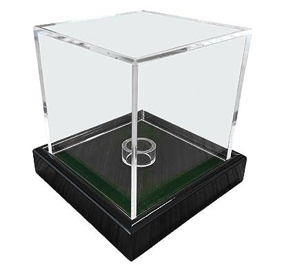 Universal acrílico vitrina 10 x 10 x 10 cm / Showcase / Display Case / vitrina con terciopelo verdes por ejemplo para pelota de tenis, béisbol, pelota ...