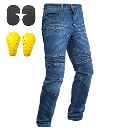 Hombre Mujer Motocicleta Pantalones Moto Pantalón Mezclilla ...