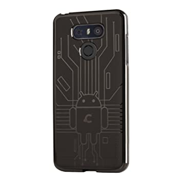CruzerLite Bugdroid Circuit – Carcasa de TPU para LG G6 – Humo