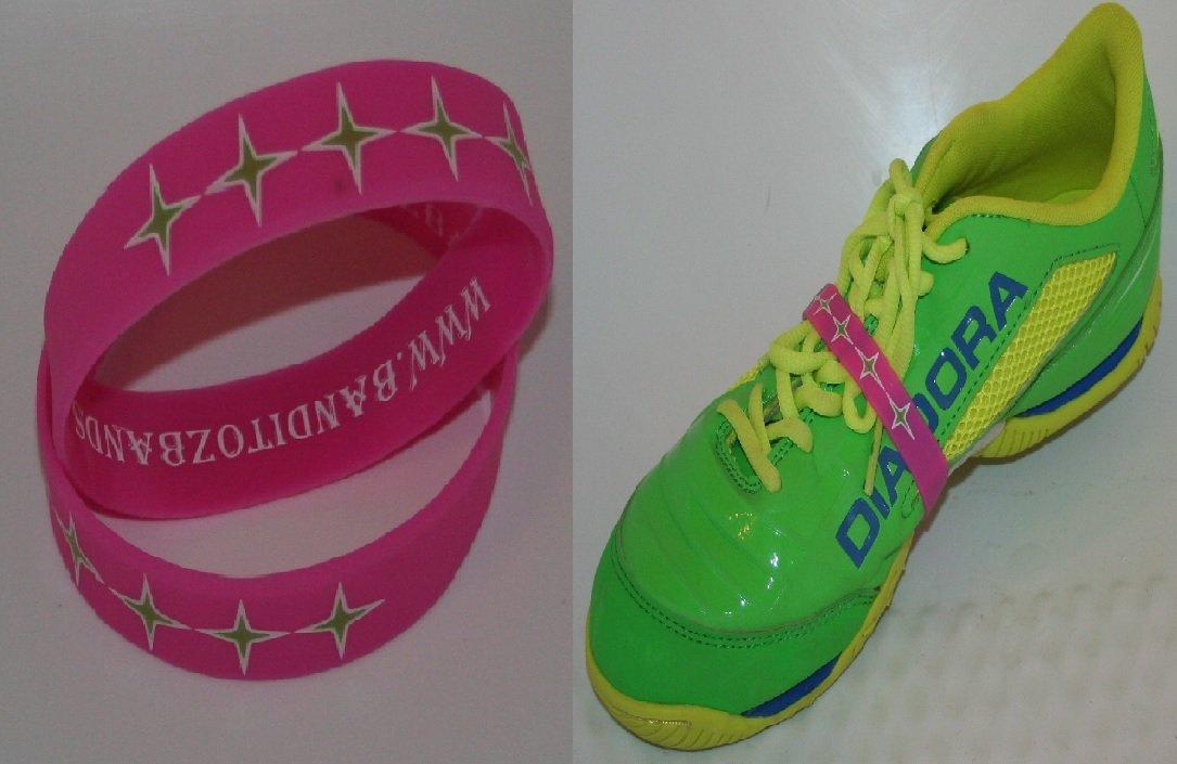 サッカーシューズレースバンド – Qty 2ピンクバンド B0743LJF2G