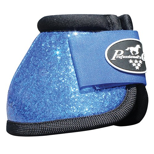 PROFESSIONALS CHOICE EQUINE SECURE FIT HOOF OVERREACH BELL BOOTS GLITTER ALL COLORS & SIZES (Cobalt Blue Glitter, Medium)