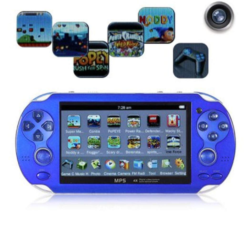 Chercherr X7 Handheld Game Console Kids Adults, Retro Game Console Portable Handheld Game Player Built-in 800 Game joystick, Home Travel Portable Gaming System Childrens Tiny Toys Digital (Blue) by Chercherr (Image #8)
