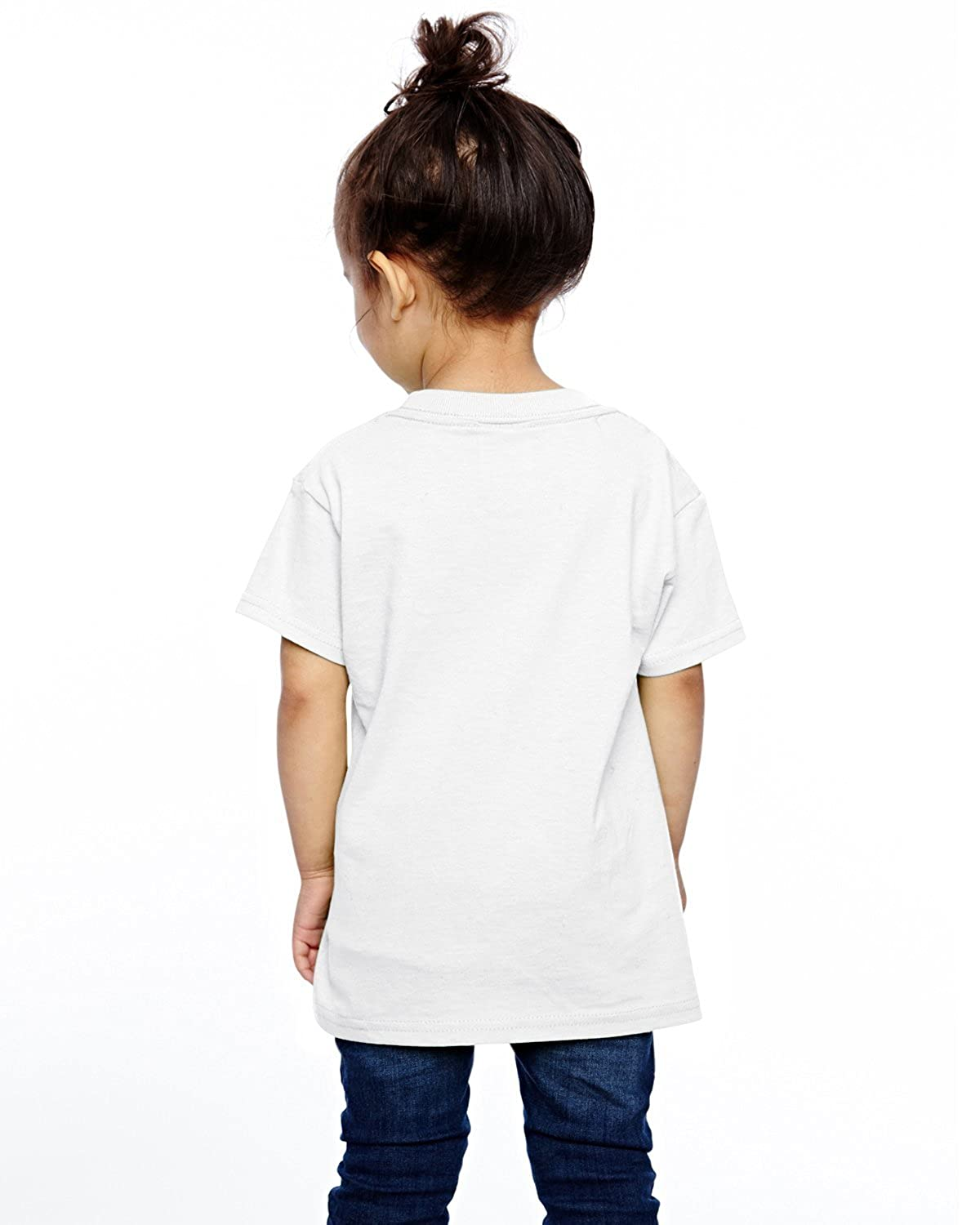 XYMYFC-E Deer Antlers Heartbeat 2-6 Years Old Kids Short-Sleeved T Shirt