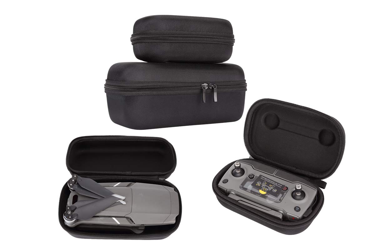 Foldable Drone Body and Remote Controller Transmitter Travel Portable Anti Shock Hardshell Carrying Case Bag for DJI Mavic 2 Pro Zoom Drone Quadcopter