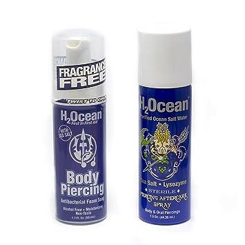 Amazoncom H2ocean Body Piercing Aftercare 2pc Antibacterial Foam