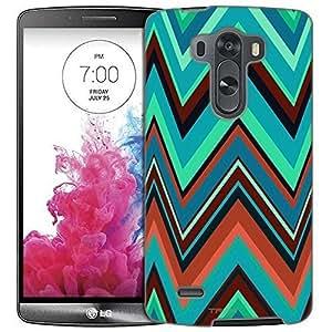 LG G3 Case, Slim Fit Snap On Cover by Trek Chevron Green Cartoon Style Trans Case