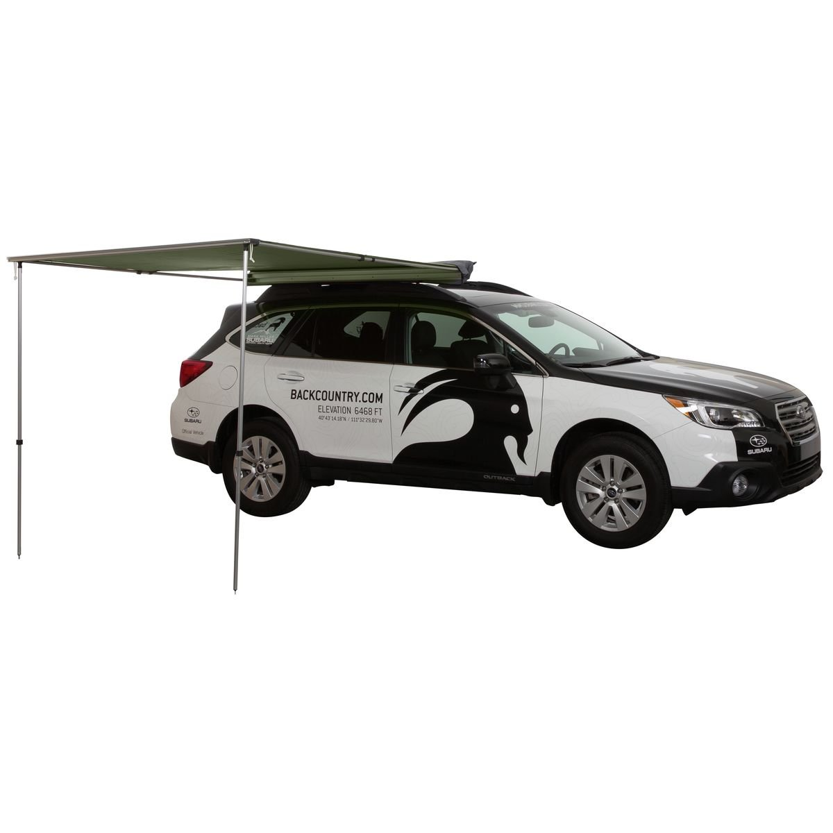 Tepuiオーニング窓 B06XXGV8ZY 4ft|Green Canopy/Black Cover Green Canopy/Black Cover 4ft