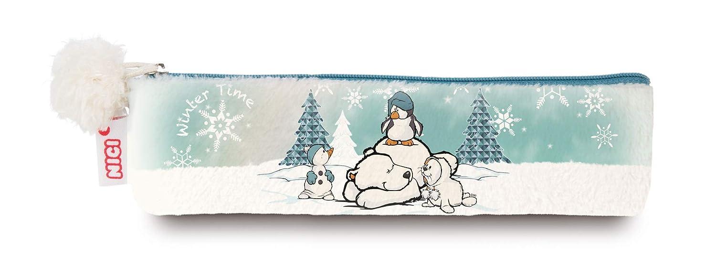 NICI 42050 Winter Trousse à Crayons avec Ours Polaire et Bonhomme de Neige Multicolore 19, 5 x 5 cm