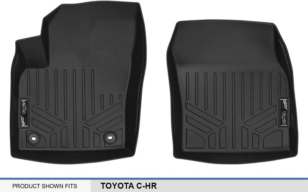 MAXLINER Floor Mats 1st Row Liner Set Black for 2018 Toyota C-HR