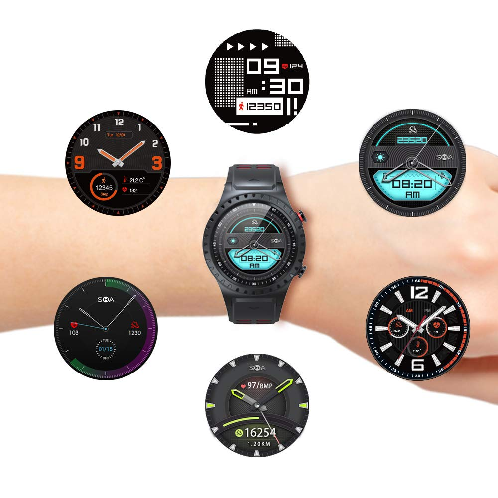 SMA-M1 Built-in GPS Sport Smart Watch Activity Tracker Fitness Watch for Men Heart Rate Monitor Watches Sleep Monitoring Smartwatch Gift for ...