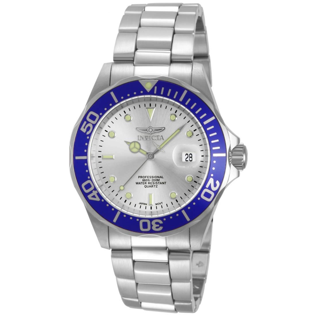 Amazon.com: Invicta Men's 14123 Pro Diver Silver Dial Stainless Steel  Watch: Invicta: Watches