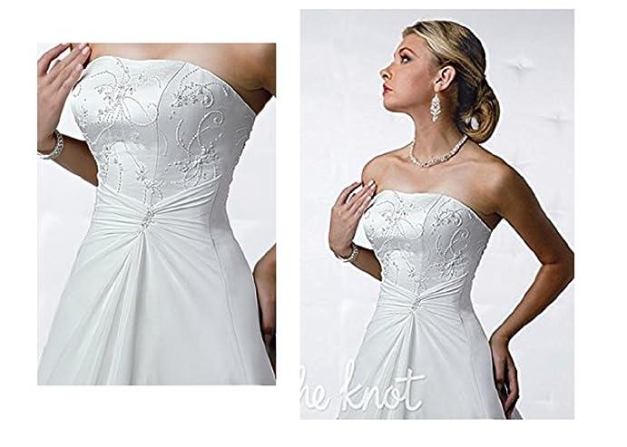 DaVinci Bridal T8107 Wedding Dress Satin Women\'s New at Amazon ...