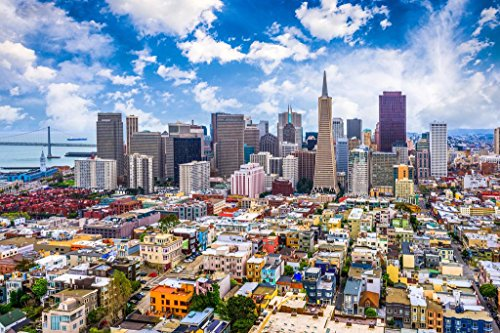 - San Francisco California Downtown Buildings Skyline Photo Mural Giant Poster 54x36 inch